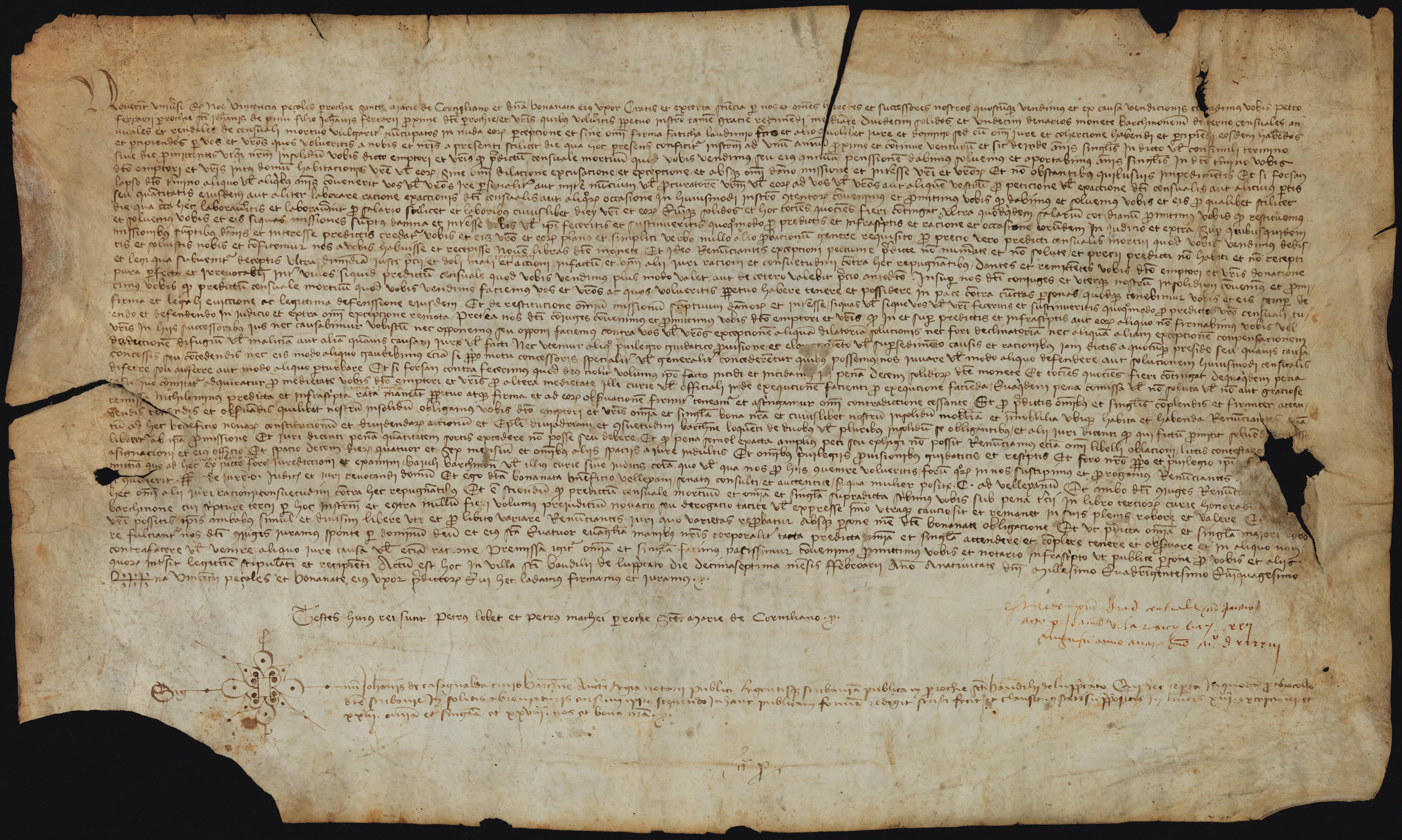 Recto 1450 Vicenç Peçoles-Bonanata