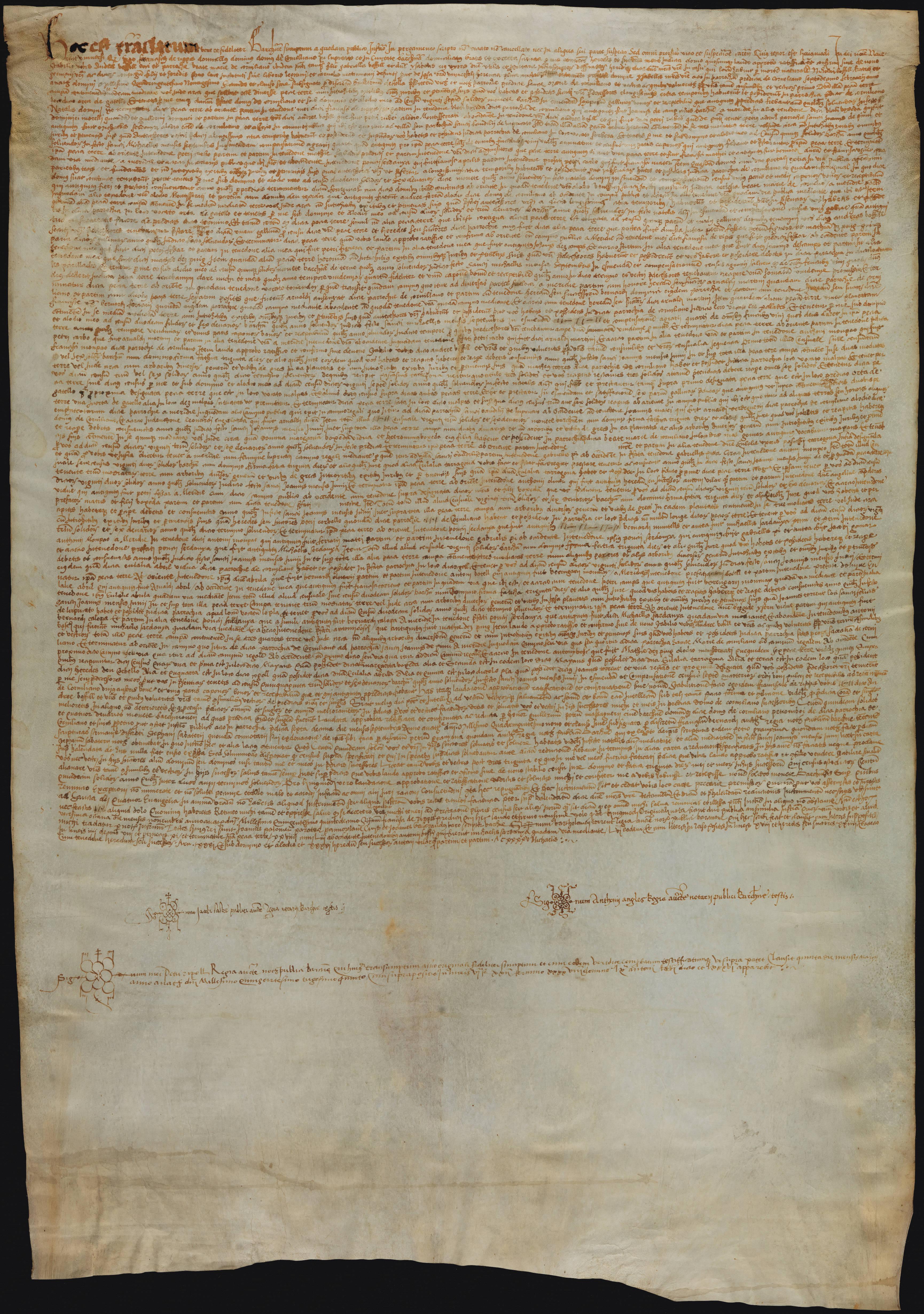 Recto 1515 Francesc de Ribes