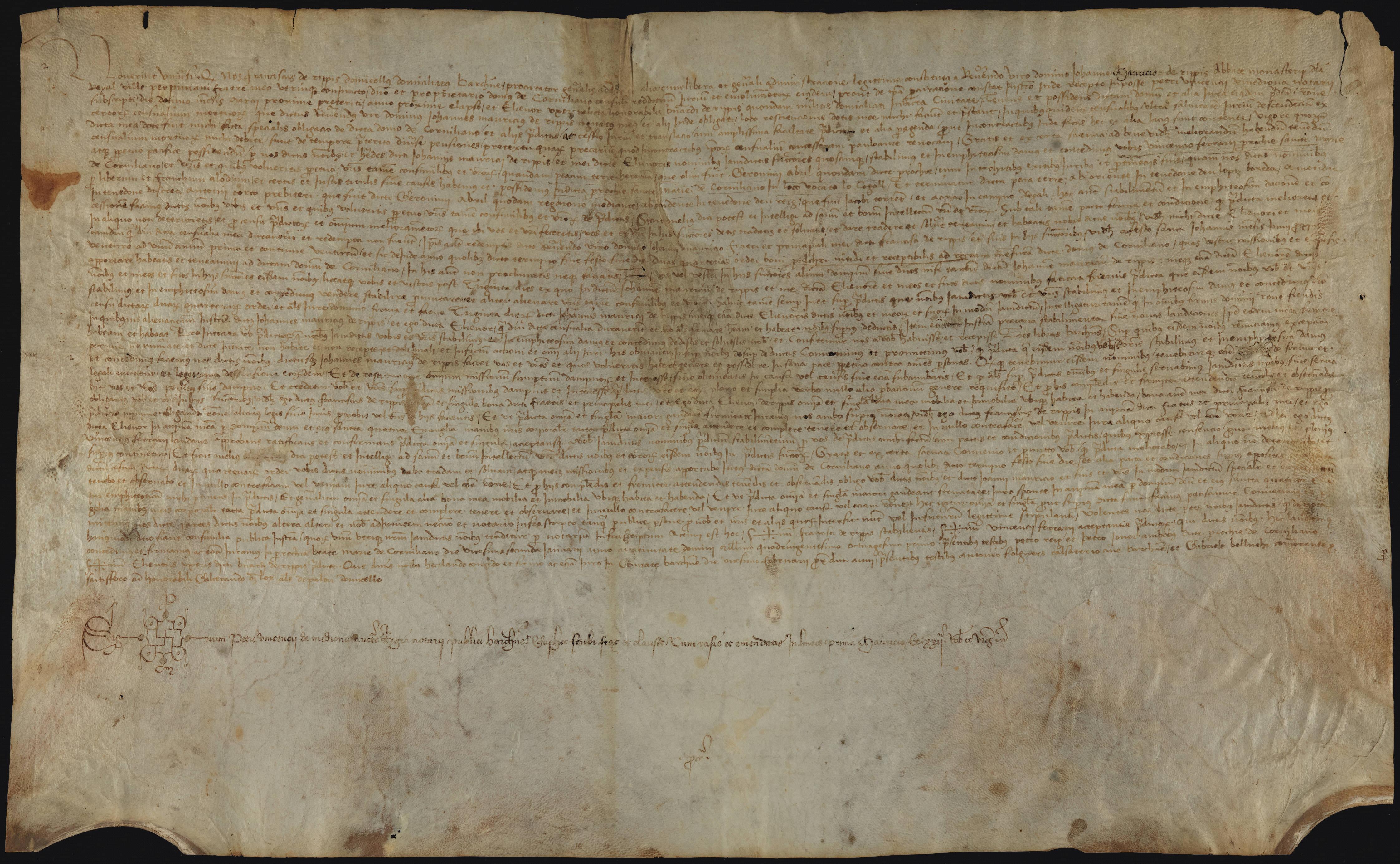 Recto 1481 Francesc de Ribes