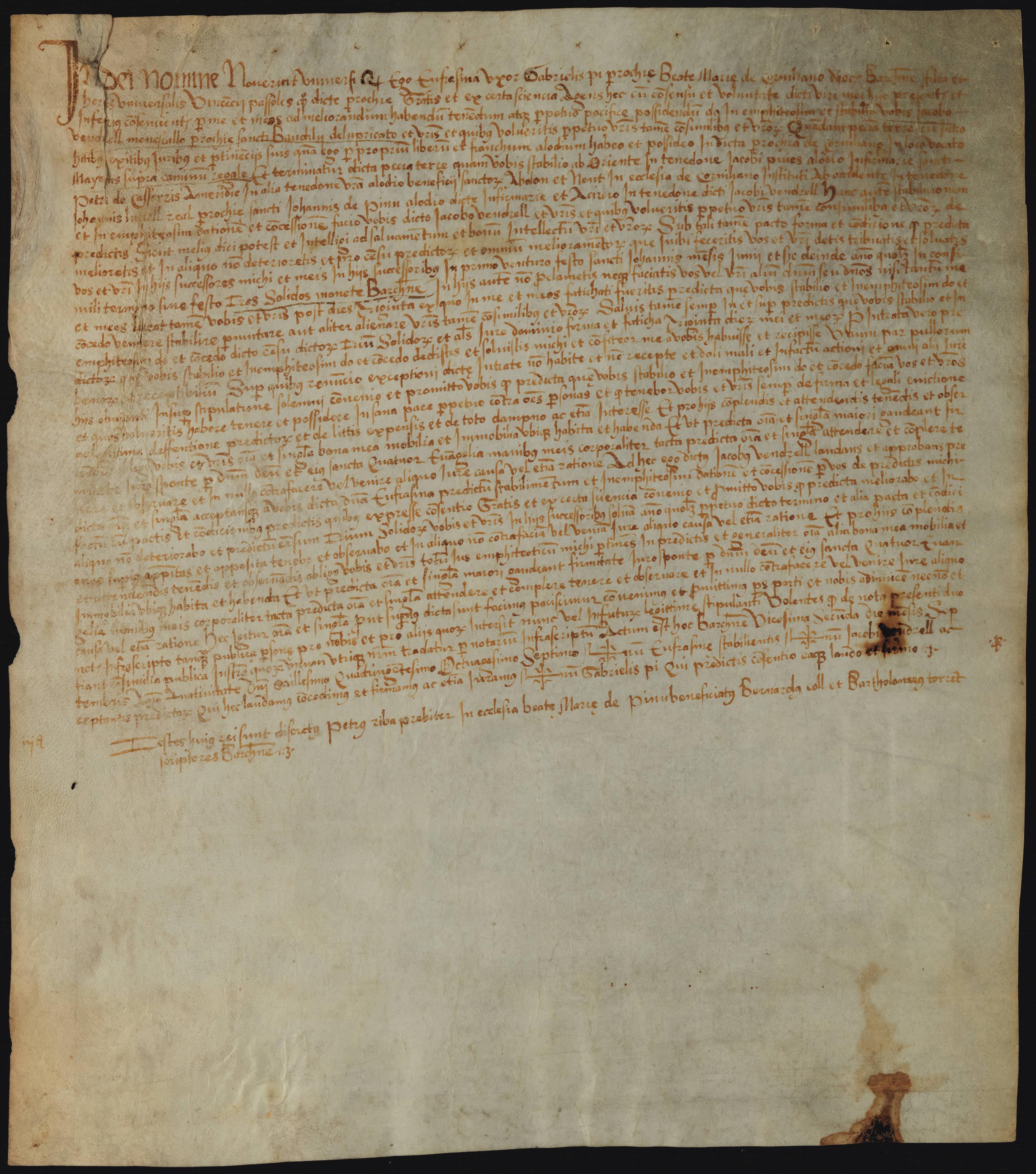 Recto 1487 Eufrasina esposa de Gabriel Pi