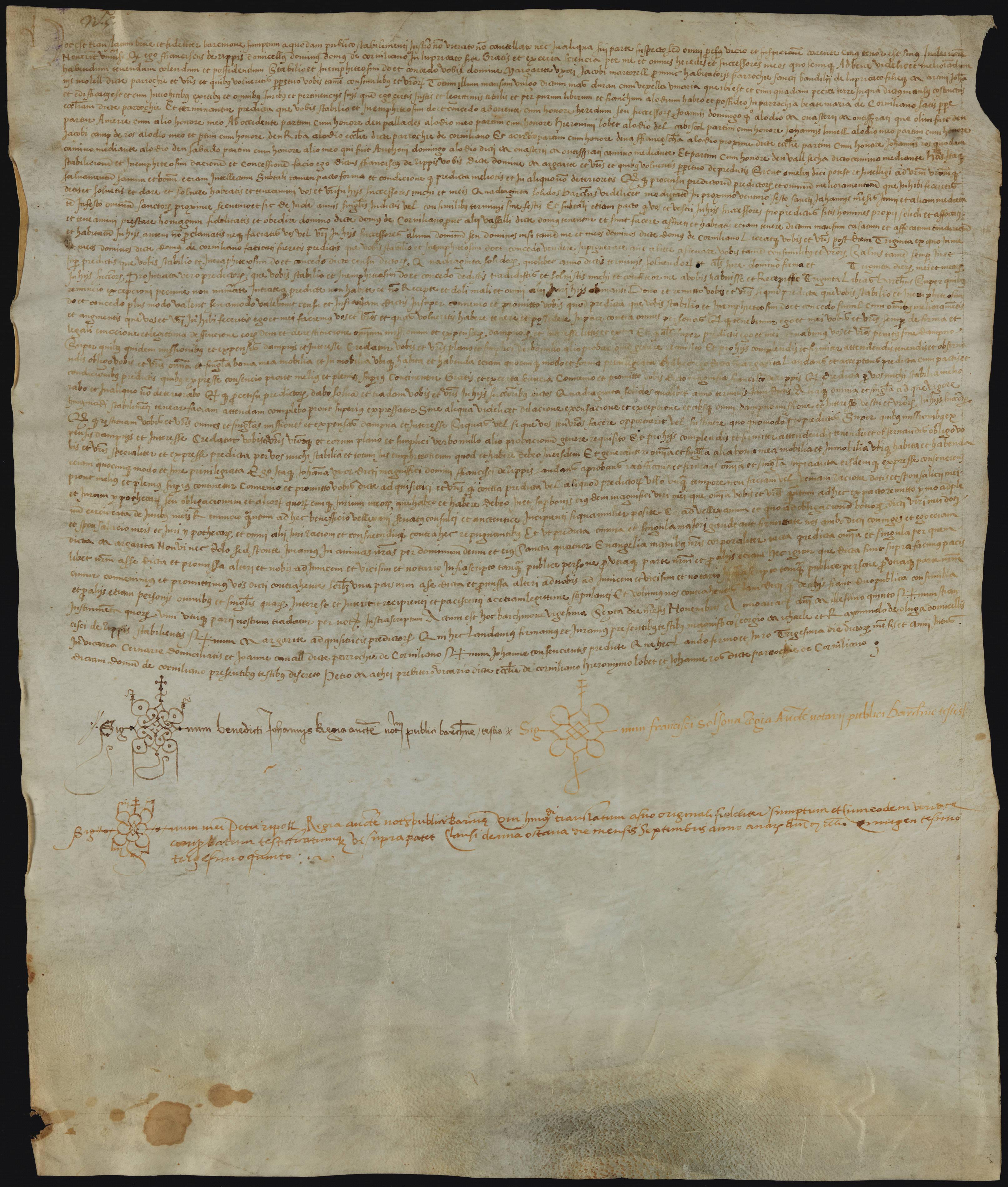 Recto 1505 Francesc de Ribes