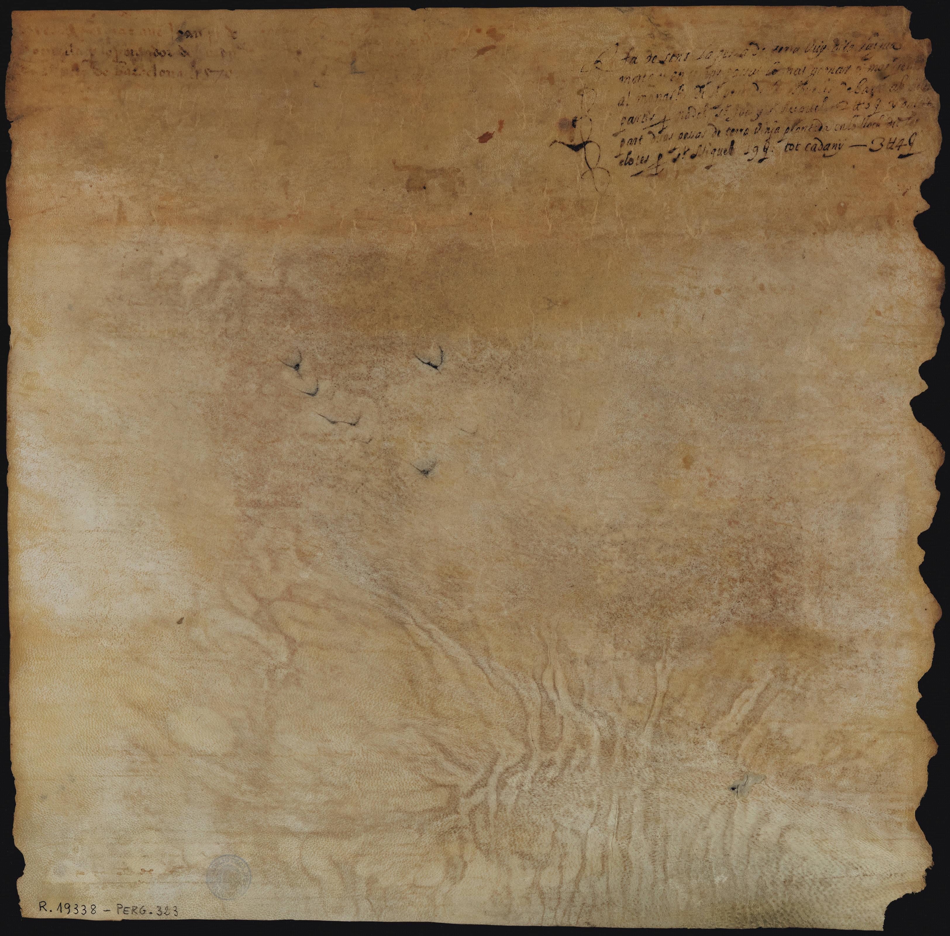 Verso 1570 Abadessa del Monestir de Sant Pere de les Puelles