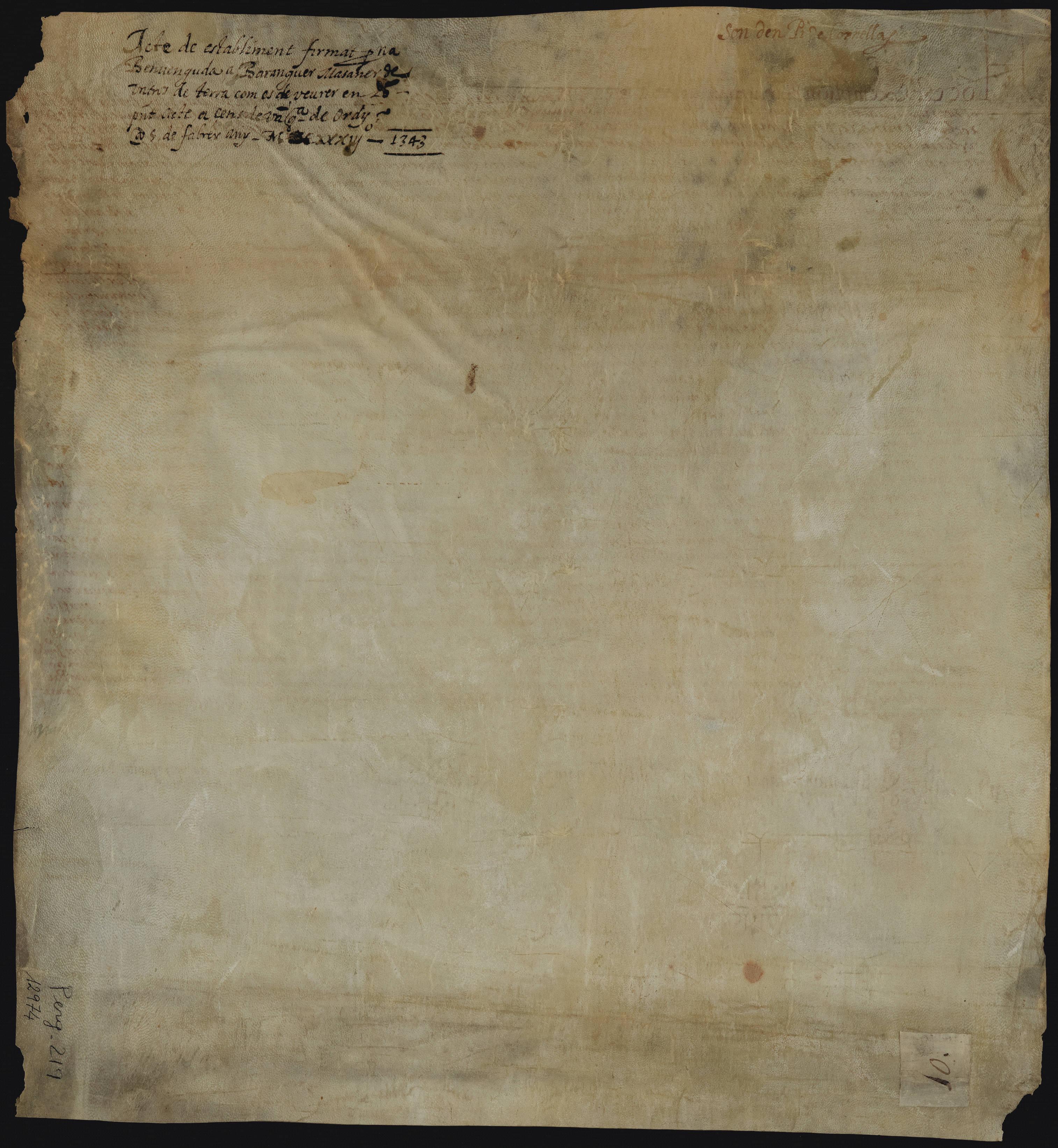 Verso - Recto 1343 Benvinguda Salat